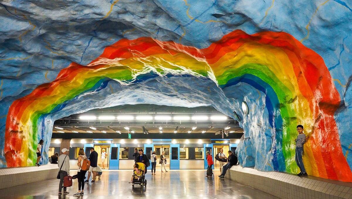 Najkrajšie metro zastávky v Štokholme